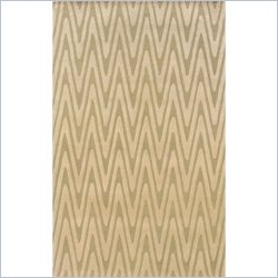 Powell Furniture Bombay Rug Chevron in Green - 2 x 3