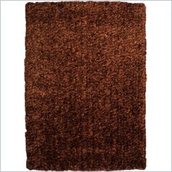 Powell Furniture Bombay Luxe Shag Rug in Brown - 2 x 3