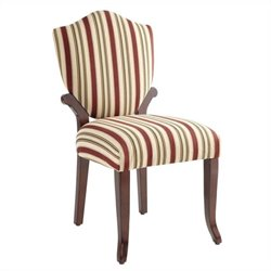 Powell Bombay Wellington Side Chair in Vintage Mahogany Finish
