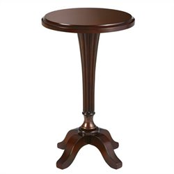 Powell Bombay Prescott Round Accent Table in Cognac Finish