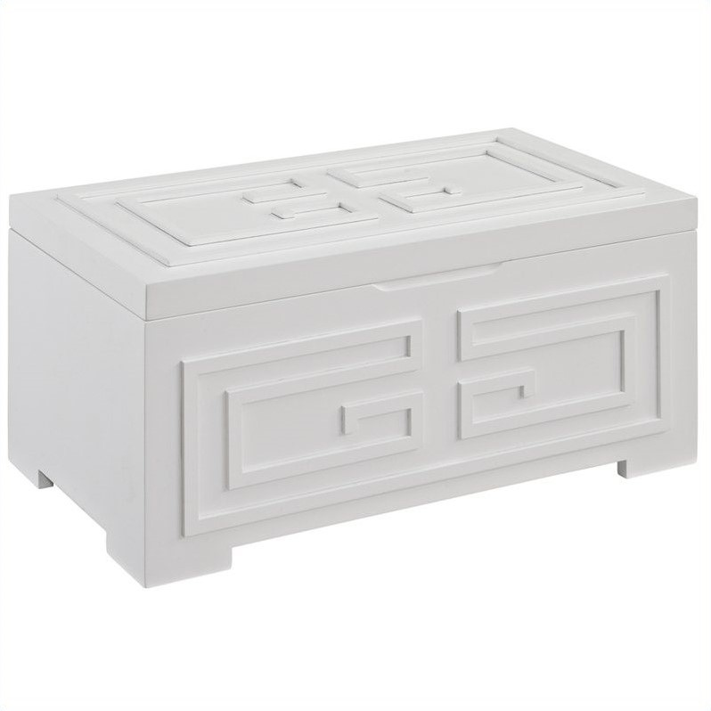 Powell Bombay Enna White Jewelry Box in White Finish