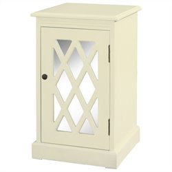 Powell Furniture Chippendale End Table in White