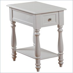 Powell Furniture Accent Table in White