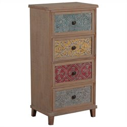 Powell Furniture Molly Tall Accent Chest in Driftwood