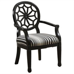 Powell Furniture Classic Seating Accent Arm Chair in Black
