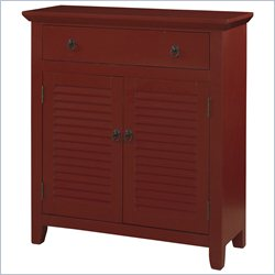 Powell Furniture Shutter Console Table in Red
