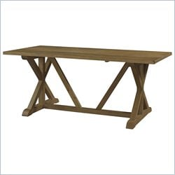 Powell Furniture Cafe Townsend Rectangular Dining Table in Weathered Oak