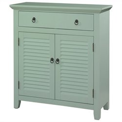 Powell Furniture Shutter Console in Light Blue