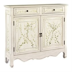 Powell Furniture Hand Painted 2 Door Console in White