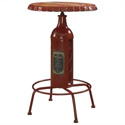 Powell Furniture Bottle Pub Table in Red