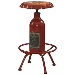 Powell Furniture Bottle Bar Stool in Red