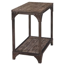 Powell Furniture Benjamin Chairside Table in neutral