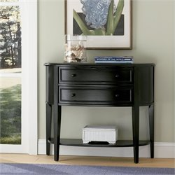 Powell Furniture Antique Black Demilune Black Console/Sofa Table