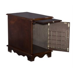 Powell Furniture Heirloom Magazine Cabinet End Table in Cherry