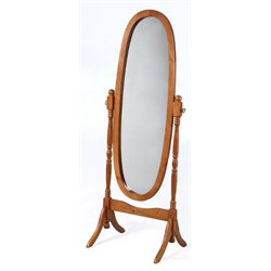 Powell Furniture Nostalgic Oak Cheval Floor Mirror in Oak