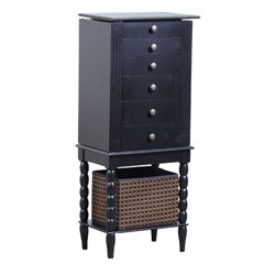 Powell Furniture Alanis Jewelry Armoire in Black