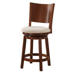 Powell Furniture Kinston 24'' Swivel Counter Stool in Oak
