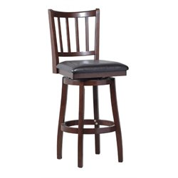 Powell Furniture Gatewood 30'' Swivel Bar Stool in Dark Brown