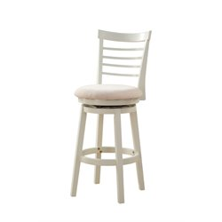 Powell Furniture Harbour 30'' Swivel Bar Stool in White