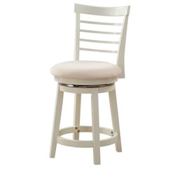 Powell Furniture Harbour 24'' Swivel Counter Stool in White