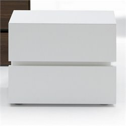 Rossetto Gola Termotrattato Nightstand in White