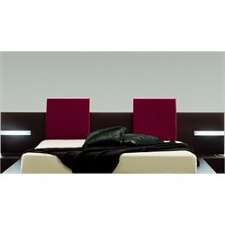 Rossetto New Win Pillow in Amaranto (Set of 2)