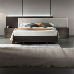 Rossetto Edge Termotrattato Platform Queen Bed in Oak