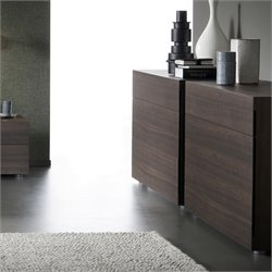 Rossetto Sound 3 Drawer Dresser in Termotrattato Oak