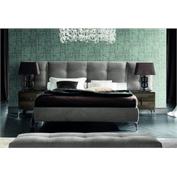 Rossetto Dune Visone Memory Wing Upholstered King Platform Bed