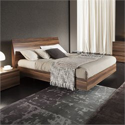 Rossetto Vela King Platform Bed in Walnut