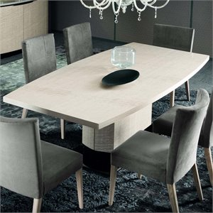 Rossetto Dune Dining Table with Wooden Base in Perla