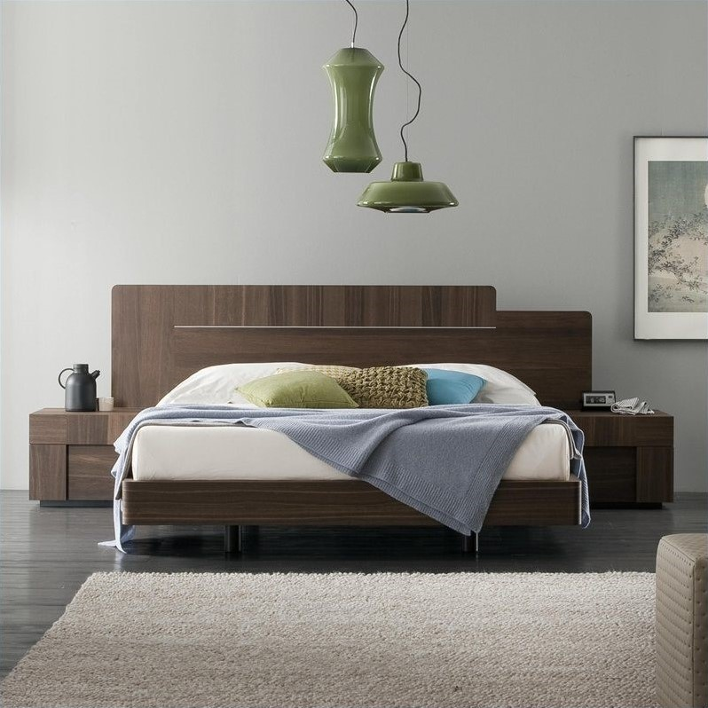 Rossetto Air Platform Bed in Warm Oak