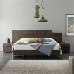 Rossetto Air Platform Bed in Warm Oak - Queen