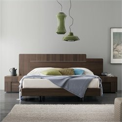 Rossetto Air Platform Bed 3 Piece Bedroom Set in Warm Oak