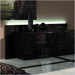 Rossetto Nightfly Boiserie (Back) For Buffet in Ebony