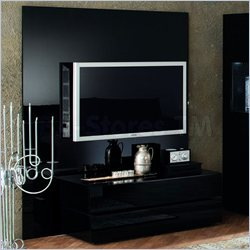 Rossetto Nightfly TV Wall Unit in Ebony