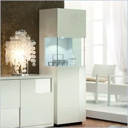 Rossetto Nightfly Right Door Curio in White