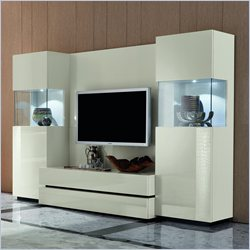 Rossetto Nightfly TV Wall Unit in White