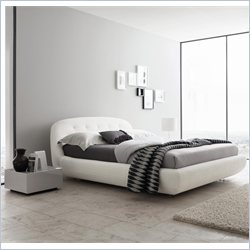 Rossetto Eclipse Platform Bed 3 Piece Bedroom Set in White