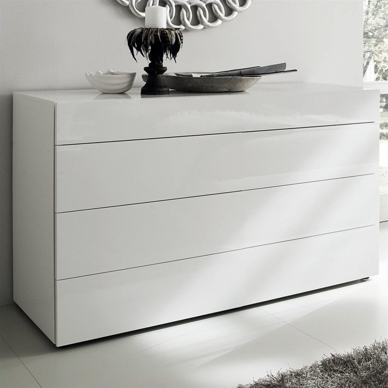 White Matrix Dresser in White