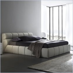 Rossetto Cloud Platform Bed in Corda (Beige) - Queen