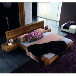 Rossetto Gap Platform Bed in Walnut