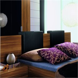 Rossetto Gap Headboard Pillow in Black Color (Set of 2)