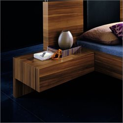 Rossetto Gap Night Stands in Walnut (Set of 2)