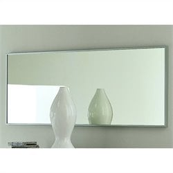 Rossetto Gap Mirror with Silver Aluminum Frame