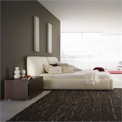 Rossetto Pavo Plaftorm Bed in Milky