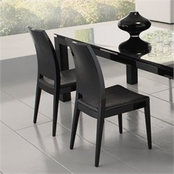 Rossetto Diamond Dining Chairs in Black (2 Per Box)