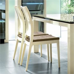 Rossetto Diamond Dining Chairs in Ivory (Set of 2)