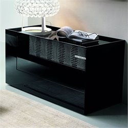 Rossetto Diamond 3 Drawer Dresser in Black