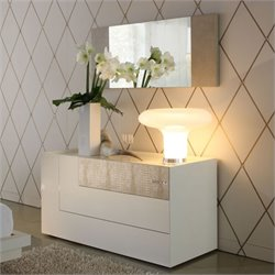 Rossetto Diamond Dresser in Ivory